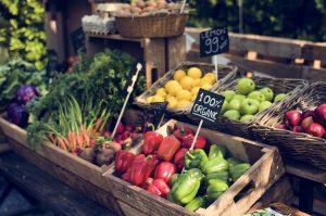 organic fresh produce 300x199 - Organic fresh agricultural product at farmer market